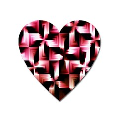 Red And Pink Abstract Background Heart Magnet