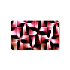 Red And Pink Abstract Background Magnet (Name Card)