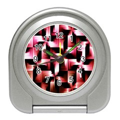 Red And Pink Abstract Background Travel Alarm Clocks