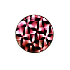 Red And Pink Abstract Background Hat Clip Ball Marker