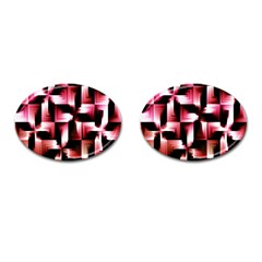 Red And Pink Abstract Background Cufflinks (Oval)