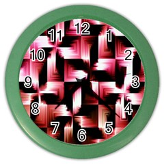 Red And Pink Abstract Background Color Wall Clocks