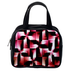 Red And Pink Abstract Background Classic Handbags (one Side)