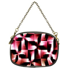 Red And Pink Abstract Background Chain Purses (two Sides)