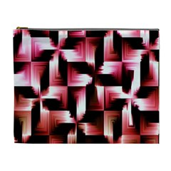 Red And Pink Abstract Background Cosmetic Bag (XL)