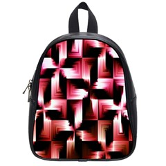 Red And Pink Abstract Background School Bags (Small)