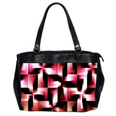 Red And Pink Abstract Background Office Handbags (2 Sides)
