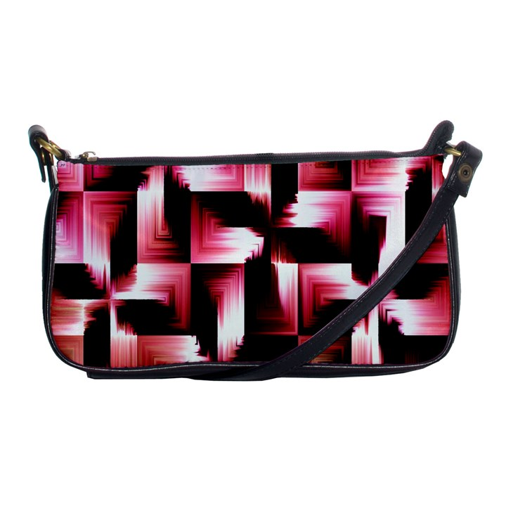 Red And Pink Abstract Background Shoulder Clutch Bags