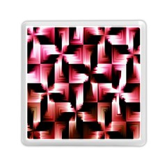 Red And Pink Abstract Background Memory Card Reader (square)