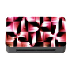 Red And Pink Abstract Background Memory Card Reader With Cf