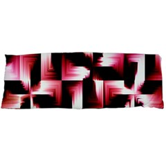 Red And Pink Abstract Background Body Pillow Case Dakimakura (two Sides)