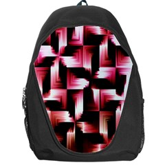 Red And Pink Abstract Background Backpack Bag