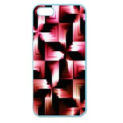 Red And Pink Abstract Background Apple Seamless Iphone 5 Case (color)