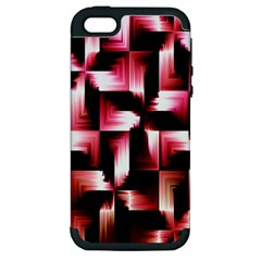 Red And Pink Abstract Background Apple Iphone 5 Hardshell Case (pc+silicone)
