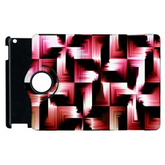 Red And Pink Abstract Background Apple iPad 3/4 Flip 360 Case