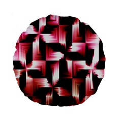 Red And Pink Abstract Background Standard 15  Premium Round Cushions