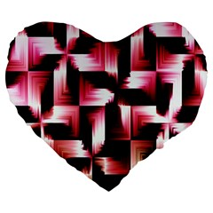 Red And Pink Abstract Background Large 19  Premium Heart Shape Cushions