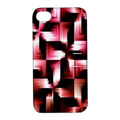 Red And Pink Abstract Background Apple iPhone 4/4S Hardshell Case with Stand