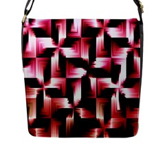 Red And Pink Abstract Background Flap Messenger Bag (L)