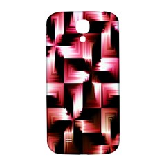 Red And Pink Abstract Background Samsung Galaxy S4 I9500/I9505  Hardshell Back Case