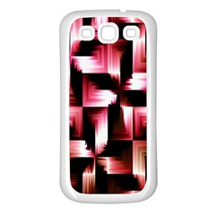 Red And Pink Abstract Background Samsung Galaxy S3 Back Case (White)