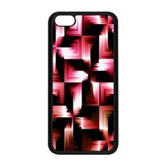 Red And Pink Abstract Background Apple iPhone 5C Seamless Case (Black)
