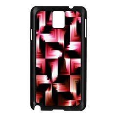 Red And Pink Abstract Background Samsung Galaxy Note 3 N9005 Case (Black)