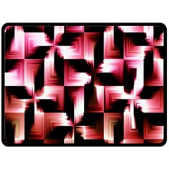 Red And Pink Abstract Background Double Sided Fleece Blanket (Large)