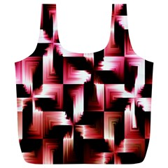 Red And Pink Abstract Background Full Print Recycle Bags (l)