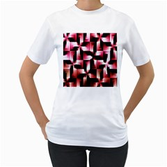 Red And Pink Abstract Background Women s T Shirt (white)