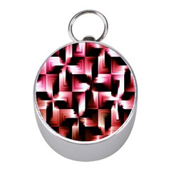 Red And Pink Abstract Background Mini Silver Compasses