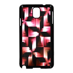 Red And Pink Abstract Background Samsung Galaxy Note 3 Neo Hardshell Case (Black)