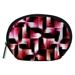 Red And Pink Abstract Background Accessory Pouches (medium)
