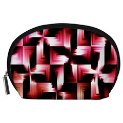 Red And Pink Abstract Background Accessory Pouches (Large)