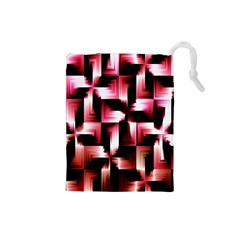 Red And Pink Abstract Background Drawstring Pouches (Small)