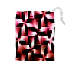 Red And Pink Abstract Background Drawstring Pouches (Large)
