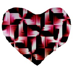 Red And Pink Abstract Background Large 19  Premium Flano Heart Shape Cushions