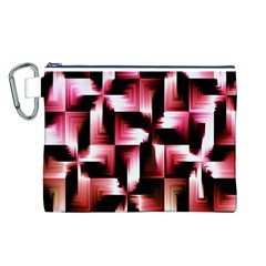 Red And Pink Abstract Background Canvas Cosmetic Bag (l)
