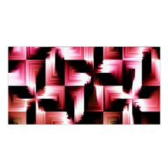 Red And Pink Abstract Background Satin Shawl
