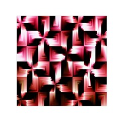 Red And Pink Abstract Background Small Satin Scarf (square)