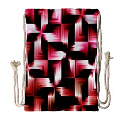 Red And Pink Abstract Background Drawstring Bag (Large)