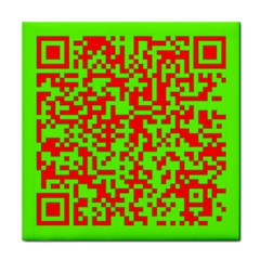 Colorful Qr Code Digital Computer Graphic Tile Coasters