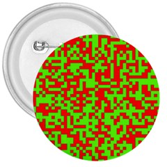 Colorful Qr Code Digital Computer Graphic 3  Buttons