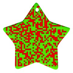 Colorful Qr Code Digital Computer Graphic Ornament (star)