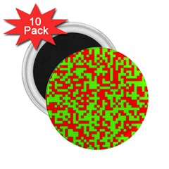 Colorful Qr Code Digital Computer Graphic 2 25  Magnets (10 Pack)