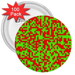 Colorful Qr Code Digital Computer Graphic 3  Buttons (100 pack)