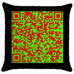 Colorful Qr Code Digital Computer Graphic Throw Pillow Case (Black)