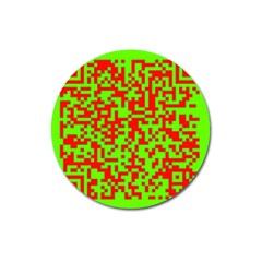 Colorful Qr Code Digital Computer Graphic Magnet 3  (Round)