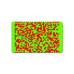 Colorful Qr Code Digital Computer Graphic Magnet (name Card)
