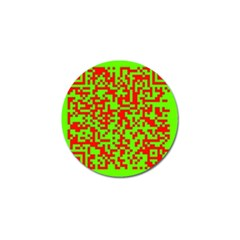 Colorful Qr Code Digital Computer Graphic Golf Ball Marker (4 pack)